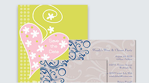 Personalized announcement & invitation cards for weddings, graduations & more