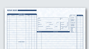 Custom auto & collision repair forms