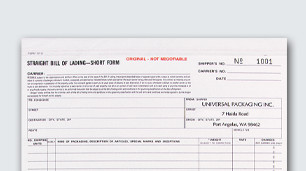 Multipurpose & bill of lading form design & printing