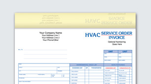 Custom HVAC & service form printing at Office Depot OfficeMax