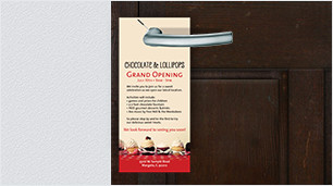 Door hanger printing - perfect for local marketing & more