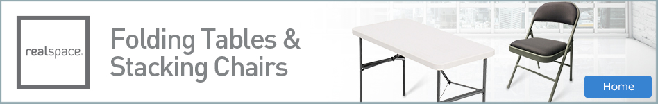 Realspace - Folding Tables & Stacking Chairs
