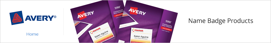 Avery Name Badge Products