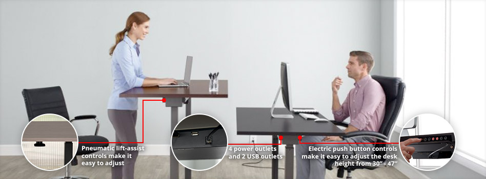 Realspace Height Adjustable Desk