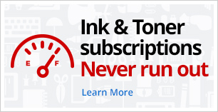 Ink and Toner Subscriptions. Never run out.