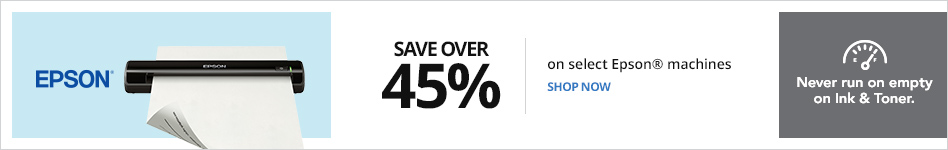 Save over 45% on select Epson Machines