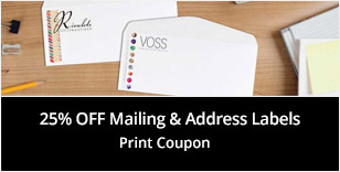 25% off Mailing & Address Labels Print Coupon