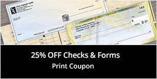 25% Off Checks & Forms Print Coupon