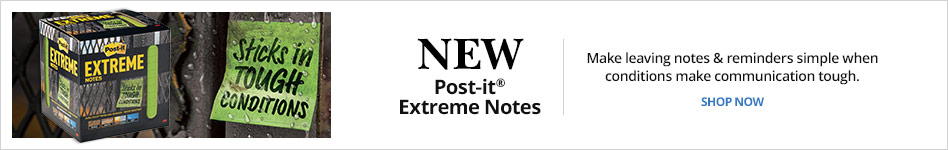 Post-It® Extreme Notes - Sticks in tough conditions