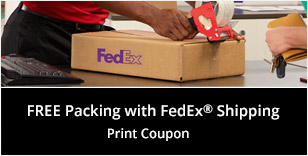 Free Packing with FedEx Shipping