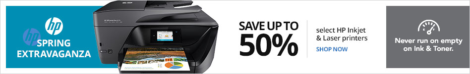 April Showers - Save up 50% off on select HP inkjet printers