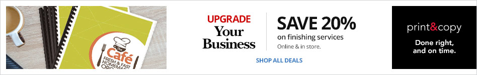Upgrade Your Business: Save 20% on Finishing Services Online & In Store
