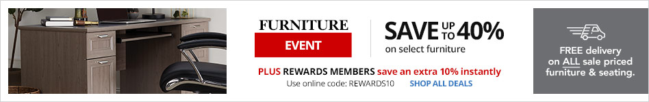 Furniture Event: Save up to 40% plus 10% Rewards on select furniture