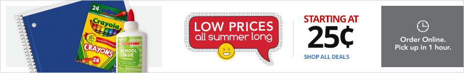 Low Prices, All Summer Long - Starting at $0.25
