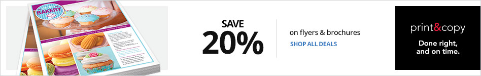 Save 20% on Flyers and Brochures