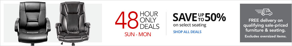48 Hour Doorbusters-Save Up To 50% on Select Seating