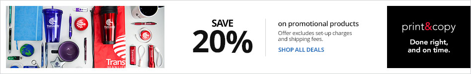 Save 20% on Promotional Products