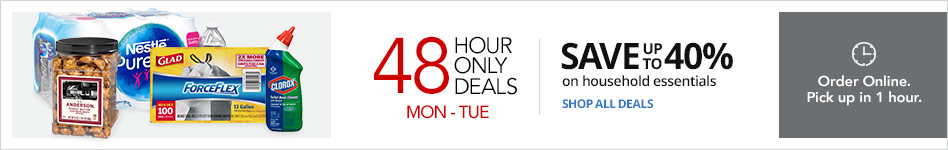 """2 Day ONLY """"Save Up to 40% on Select Household Essentials"""