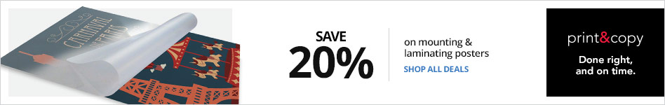 Save 20% on Mounting and Laminating Posters