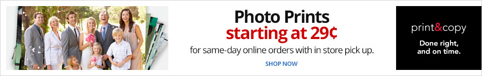 Photo Prints Starting at 29 Cents