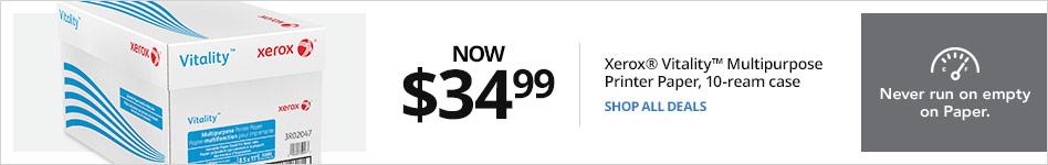 Only $34.99Xerox® Vitality Multipurpose Printer Paper, 10 ream case