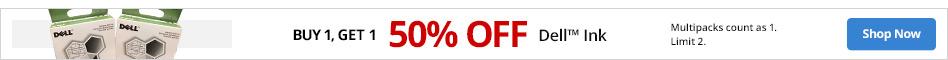 BOGO 50%  Dell Ink. Limit 2. Multipacks count as 1.
