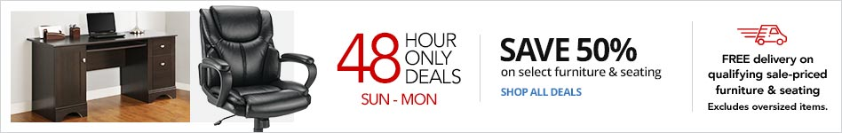 "48 Hour Doorbusters- ""Save 50% on select Furniture & Seating"