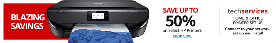 Blazing Savings -Save up to 50% on select HP Printers