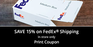 Save 15% on FedEx Shipping In-store only