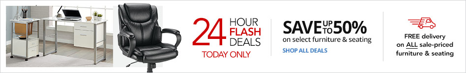 24HR Furniture Flash Sale- Save up to 50% on select Furniture & Seating