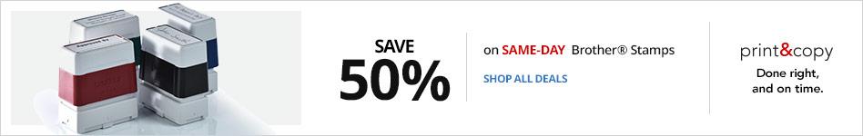 Save 50% on Same Day Brother® Stamps