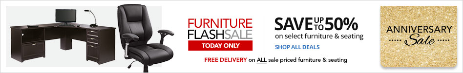 "24HR Furniture Flash Sale- Save up to 50% on select Furniture & Seating"" In Store or  Free Delivery on ALL sale-priced furniture"