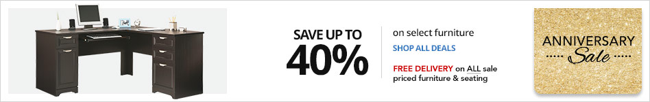"Save up to 40% on select Furniture""  In Store or  Free Delivery on ALL sale-priced furniture"