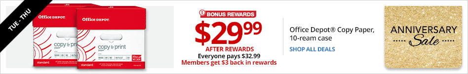 TUES-THU Online Only $29.99 After Rewards. Everyone pays $32.99. Members get $3 back in rewards