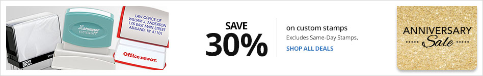 Save 30% on Custom Stamps Excludes Same-Day Stamps