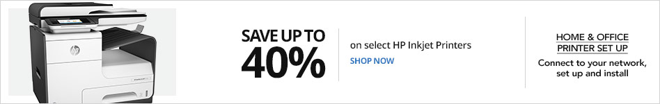 Save up to 40% off select HP Inkjet Printers