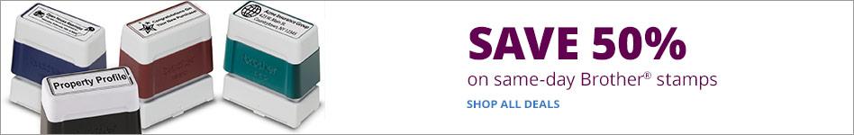 Save 50% on Same-Day Brother® Stamps