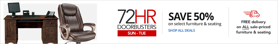72HR Doorbusters- Save 50% on select Furniture & Seating