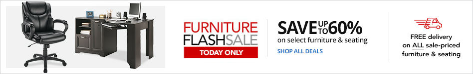 24HR Furniture FLASH Sale- Save up to 60% on select Furniture & Seating