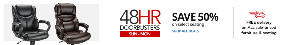 72HR Doorbusters- Save 50% on select Seating