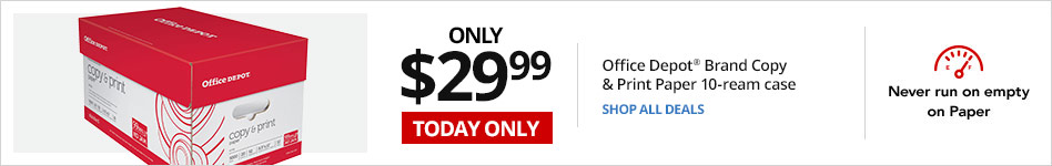 TODAY ONLY - Only $29.99 Office Depot® Brand Copy & Print Paper, 10-ream case