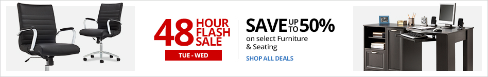 48HR Furniture Flash Sale- Save up to 50% on select Furniture & Seating