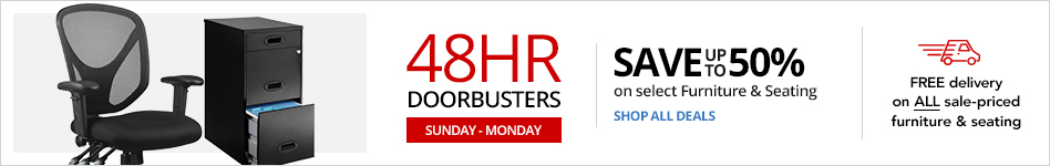 48HR Doorbusters- Save up to 50% on select Furn & Seating