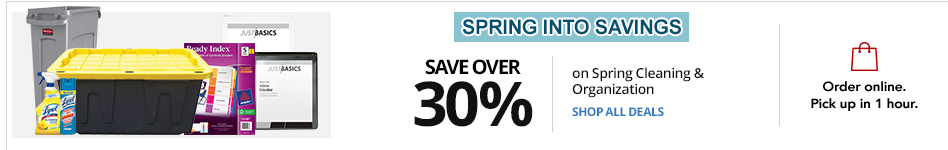 Save over 30% on select Spring Cleaning Essentials