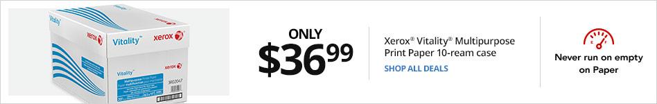 Only $36.99 Xerox® Vitality Multipurpose Printer Paper, 10-ream case