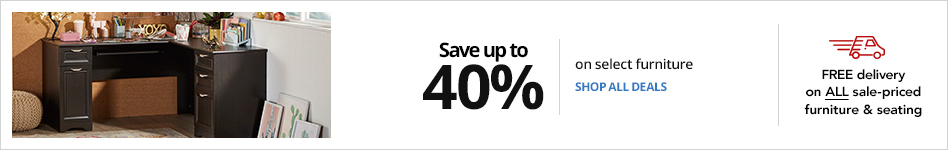 Save up to 40% on select Furniture