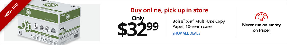 Only $32.99 Office Depot® Brand Copy & Print Paper, 10-ream case when you buy online and pick up in store