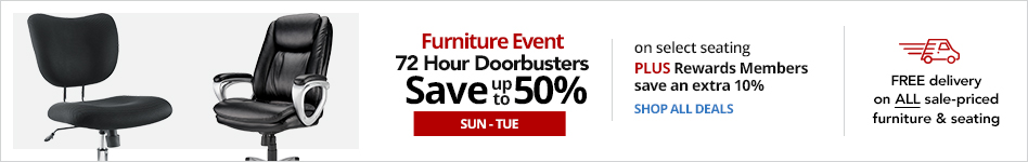 Furniture Event - SUN-TUES  3-Day Doorbusters - Save up to 50% on select furniture  Plus Rewards Members save an extra 10% instantly. Use online code: REWARDS10