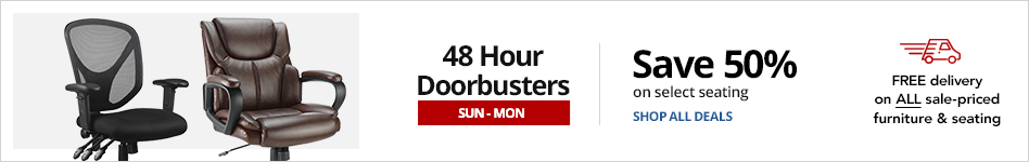 48HR Furniture Doorbusters- Save 50% on select Seating