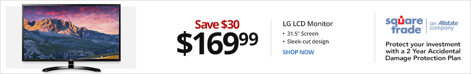 "LG 31.5"" LED LCD Monitor, 32MP58HQP. Save $30 for 169.99"